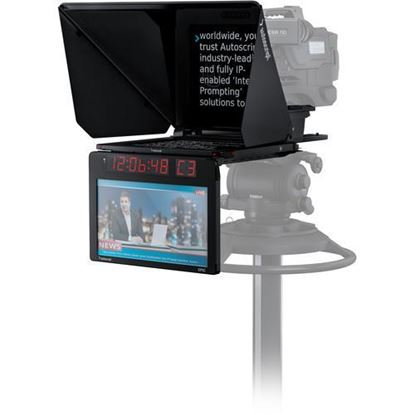 "Picture of Autoscript EPIC-IP on-camera package with 15"" prompt monitor and integrated 15"" talent monitor"