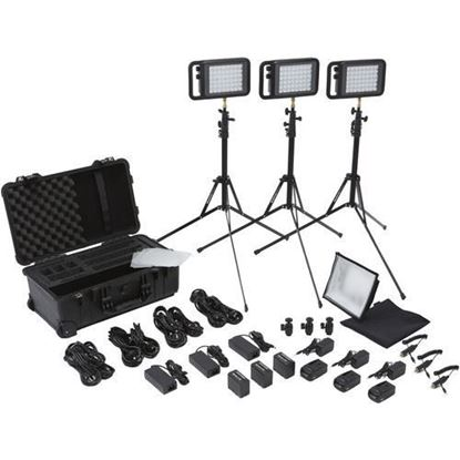 Picture of Litepanels Lykos BiColor Flight Kit with Battery Bundle - US
