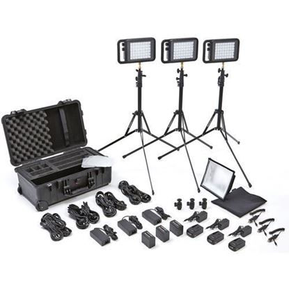 Picture of Litepanels Lykos BiColor Flight Kit with Battery Bundle - UK
