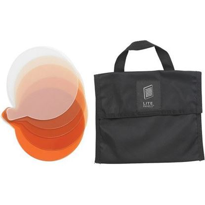 Picture of Litepanels Sola 12 5-Piece CTO Gel Set with Gel Bag