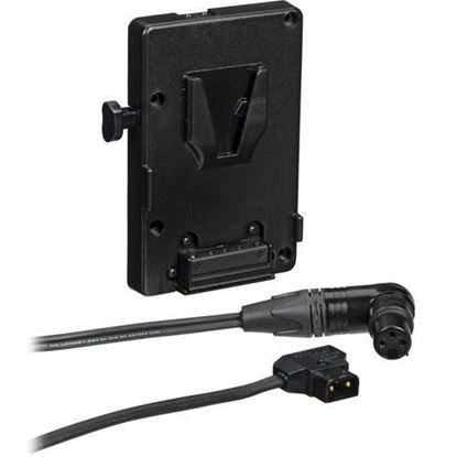 Picture of Litepanels A/B V-Mount Battery Bracket with P-Tap to 3-pin XLR cable
