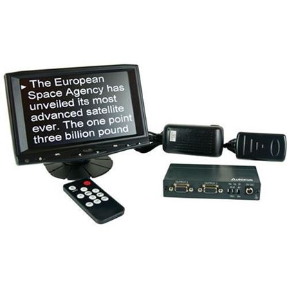 """Picture of Autocue 8"""" Preview Monitor, VGA Splitter and cable"""