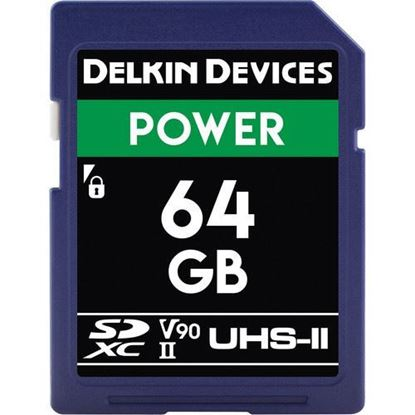 Picture of Delkin Devices 64GB Power UHS-II SDXC Memory Card