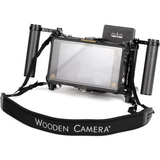 Picture of Wooden Camera Director's Monitor Cage v3 with Carbon Fiber Handgrips
