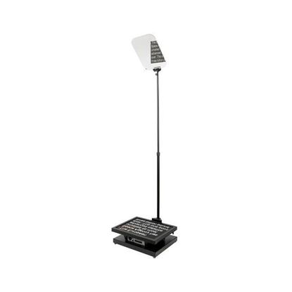 """Picture of Autocue/QTV Manual Conference Stand with Glass & Master Series 20"""" SDI Monitor"""